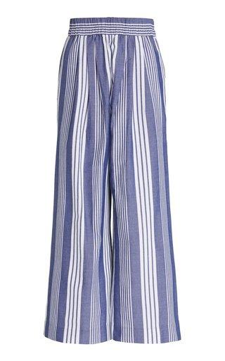 Paloma Striped Cotton-Blend Wide-Leg Pants