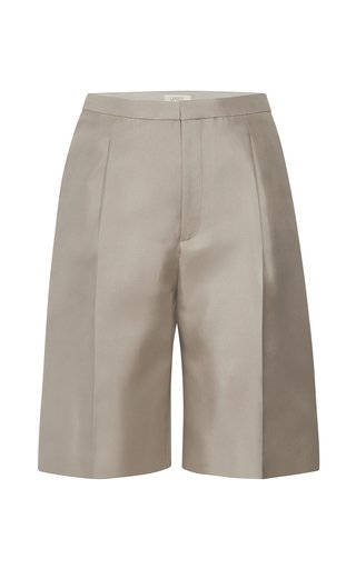 Double-Faced Tailored Silk Shorts