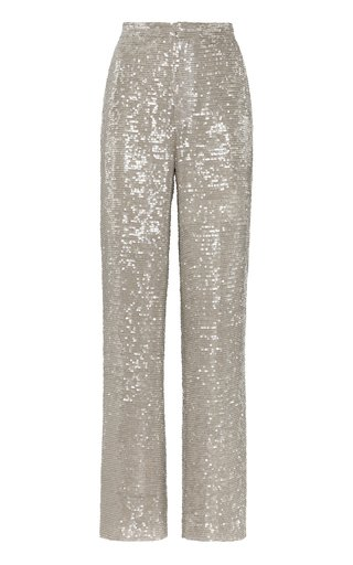 Sequined High-Waisted Pants
