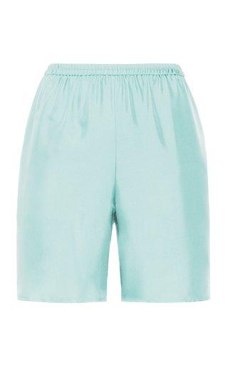 Relaxed Silk Midi Shorts