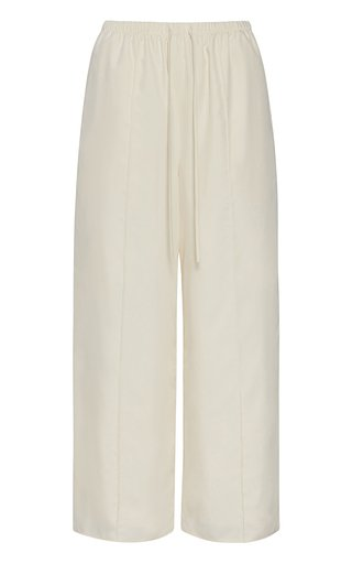 Pin Tucked Wide-Leg Pants