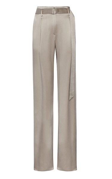 High-Waisted Double-Faced Satin Pants