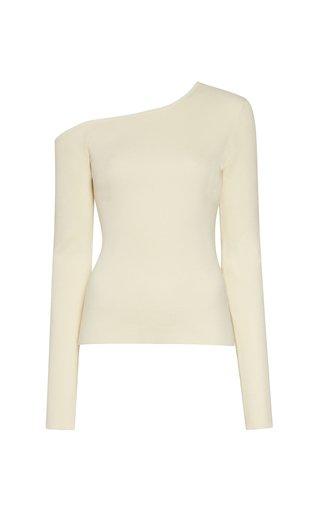 One-Shoulder Knit Top