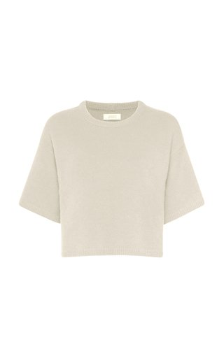 Oversized Knit Cashmere-Silk T-Shirt