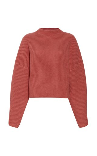 Ribbed Cashmere-Silk Sweater