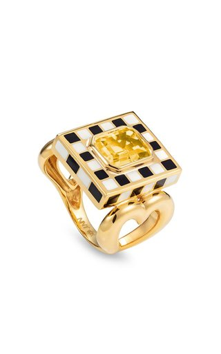 18K Yellow Gold Let's Play Chess Ring