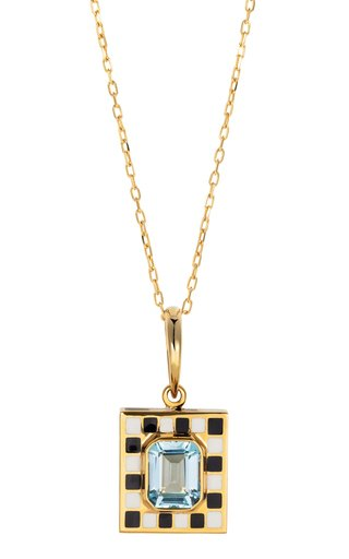 18K Yellow Gold Let's Play Chess Pendant