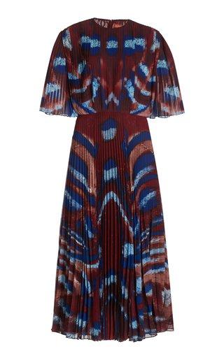 Constance Printed Plisse Maxi Dress