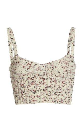 Sim Floral Silk Bralette Top
