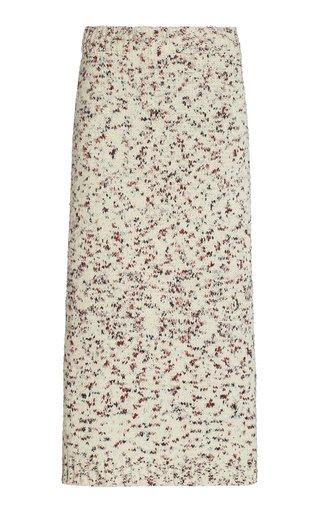 Gardenia Floral Silk Skirt