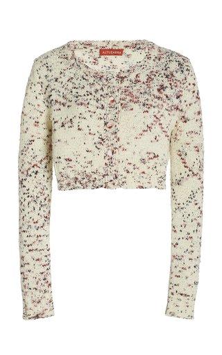 Stiles Floral Silk Sweater