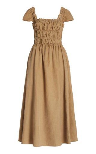Daisy Smocked Woven Midi Dress