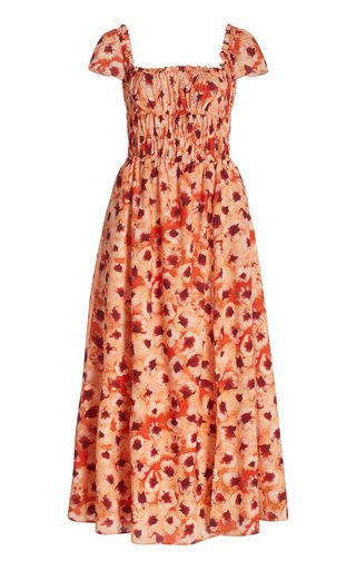 Daisy Off-The-Shoulder Floral-Print Dress