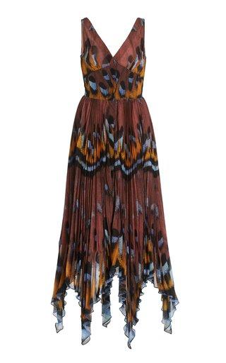 Annabella Printed Handkerchief-Hem Dress