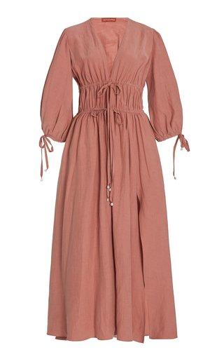 Donrine Tie-Accented Maxi Dress