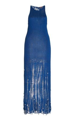 Carroll Embellished Silk Knit Dress