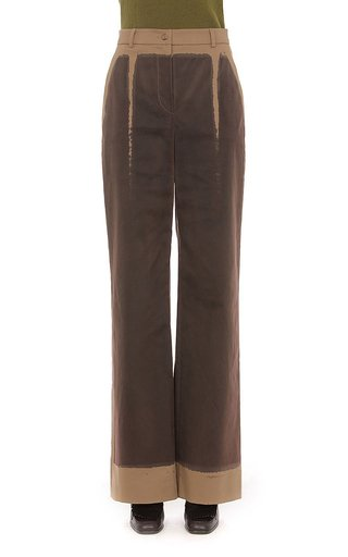 Hand Dyed Stretch Cotton Gabardine Trousers