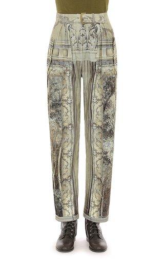 Trompe L'Oeil Printed Velvet Trousers