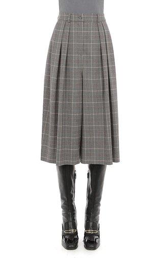 Tartan Wool Pleated Culottes