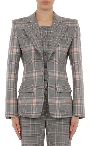 Tartan Wool Blazer With Inset Vest