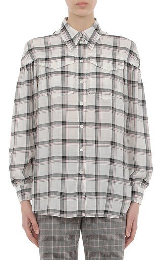 Tartan Tencel Button-Up Shirt