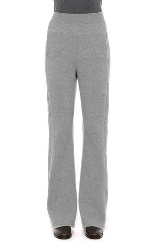 Cashmere Blend Flared Trousers