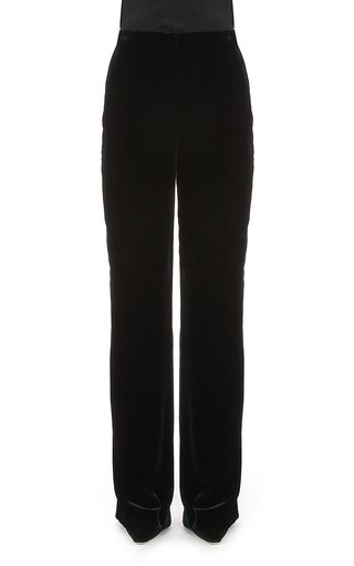 Viscose Silk Velvet Trousers