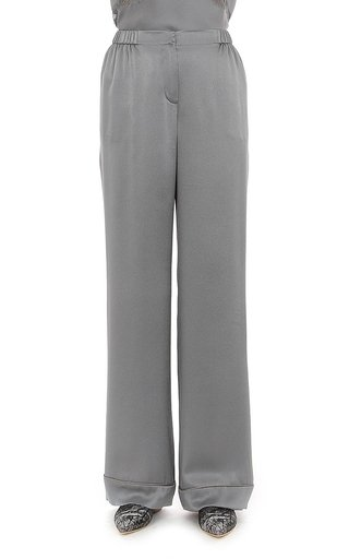 Satin Pajama Effect Trousers