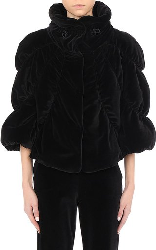 Athleisure Capsule Chenille Cropped Puffer