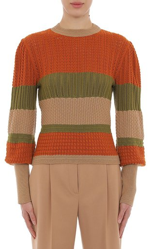 Extra Fine Striped Merino Wool Sweater