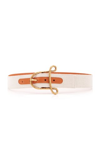 "Two-Tone ""A"" Leather Belt"