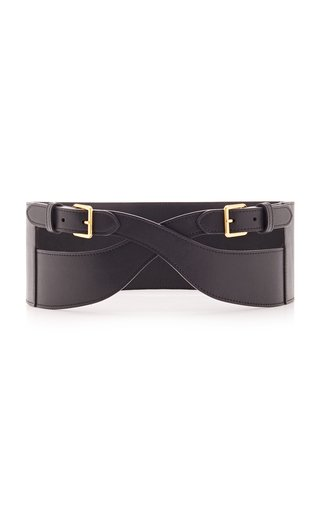 Sculptured Play Leather Belt