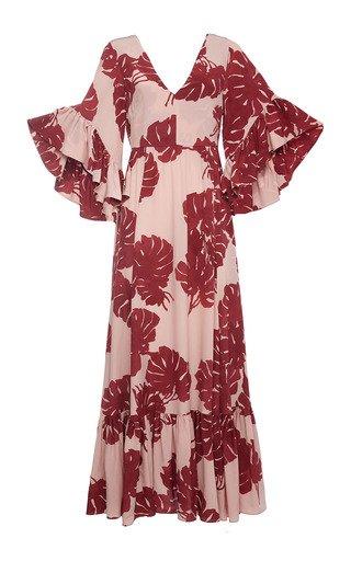Bella Ruffle-Detail Silk Maxi Dress