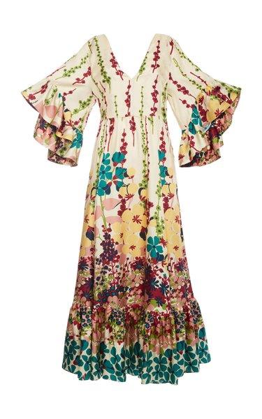 Bella Ruffled Tiered Silk Dress