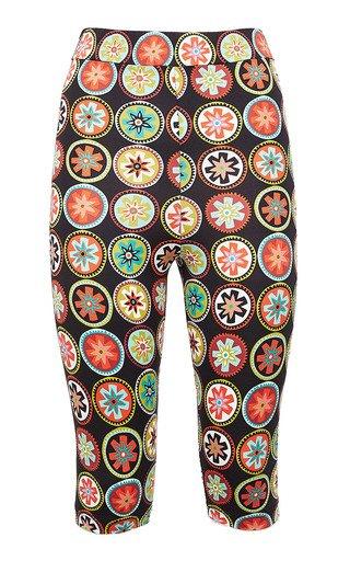 Jazzercize Printed Spandex Shorts