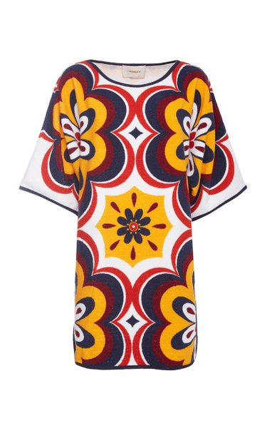 Terry Printed Cotton Tunic