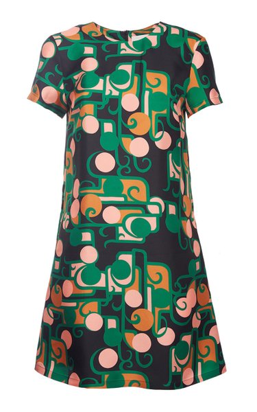 Silk Mini Swing Dress