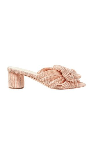 Emilia Pleated Knot Mules