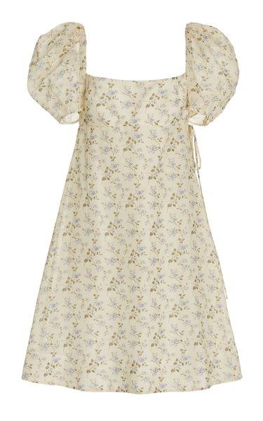 Exclusive Floral Cotton Voile Mini Dress