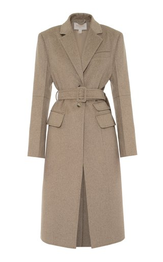 Structured Longline Wool-Blend Coat
