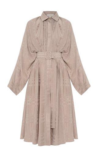 Printed Collared Cupro Dress