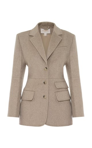 Structured Wool-Blend Blazer