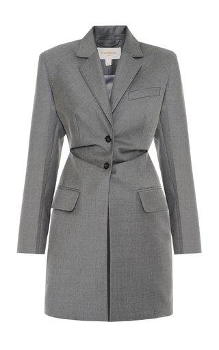 Structured Longline Wool Blazer