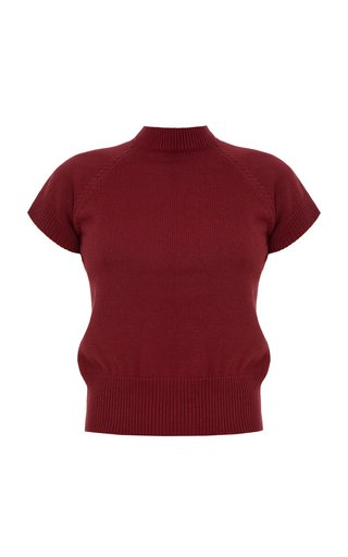 Fitted Wool-Cashmere Top