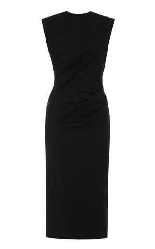 Ruched Virgin Wool Dress