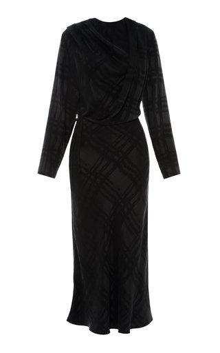 Printed Draped Cupro Dress