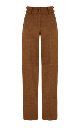 Pleated Wool-Blend Pants