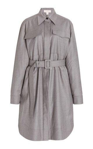 Belted Longline Virgin Wool Top