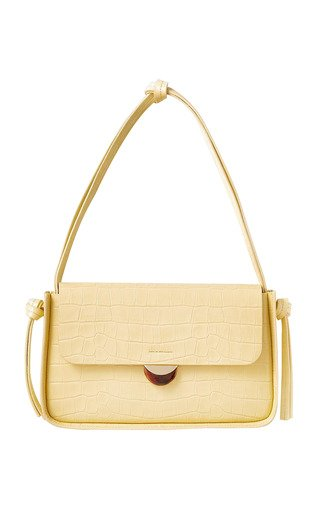 Maggie Croc-Effect Leather Shoulder Bag
