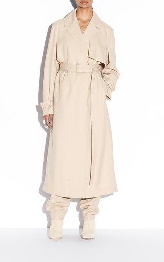 Candace Fluid Wool Twill Coat